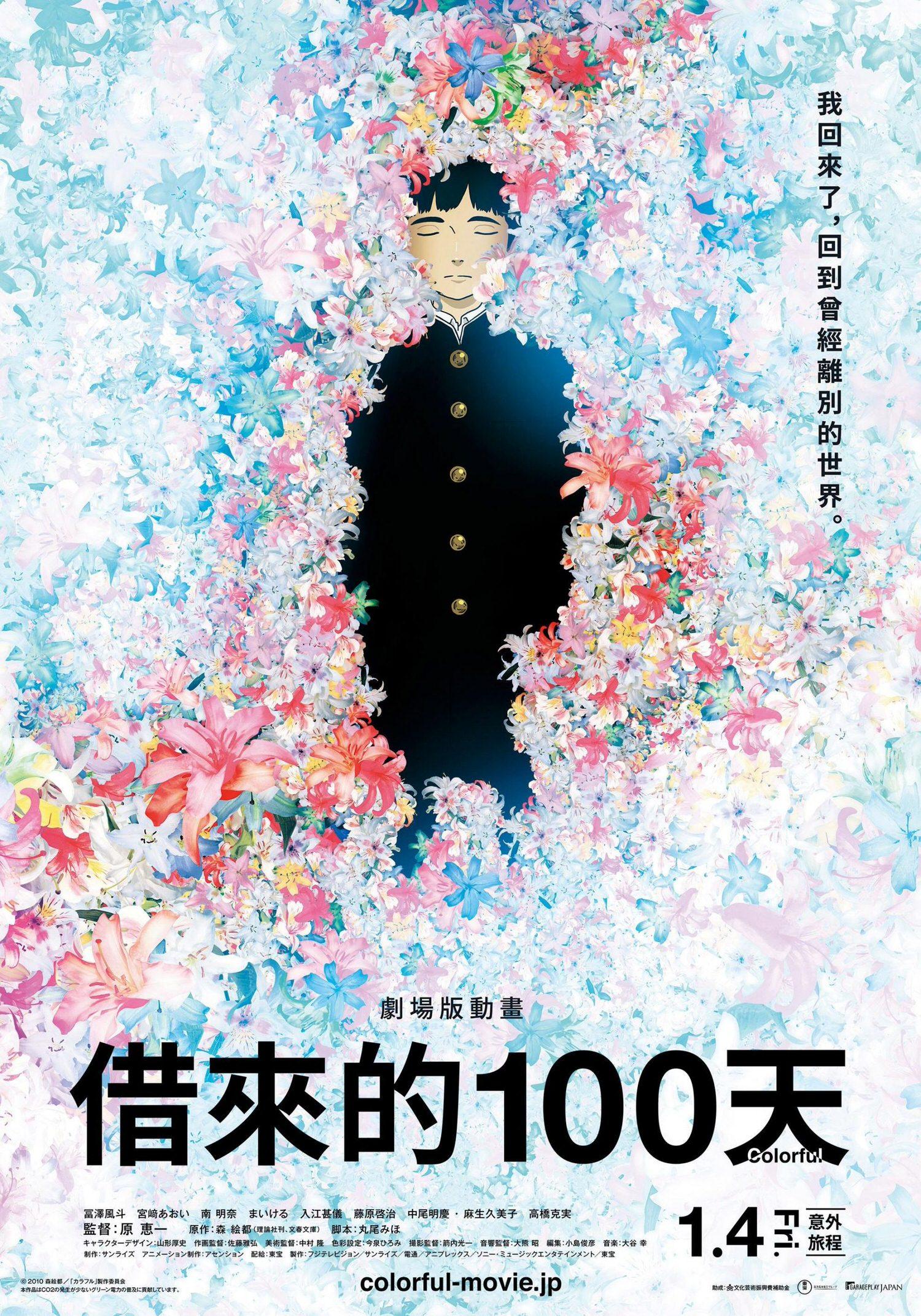 電影【借來的100天】Colorful 劇場版動畫:我回來了,回到曾經離別的世界。